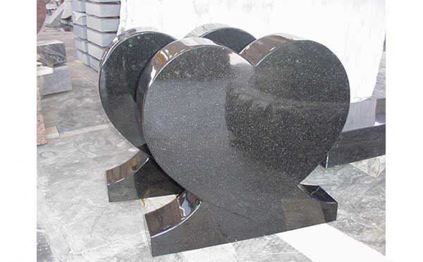Hearts Europe Model Absolute Black Granite Monuments